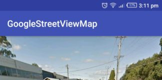 Android Google Map Street View Example