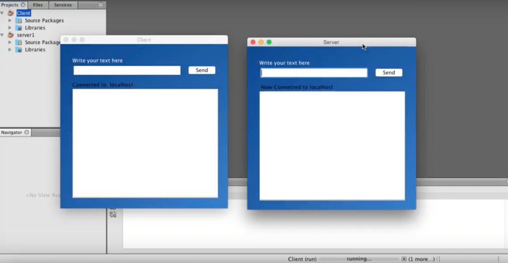 Java TCP Client Server chat application