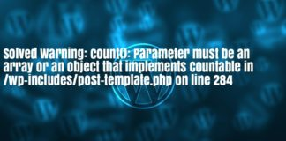 Parameter must be an array or an object that implements Countable