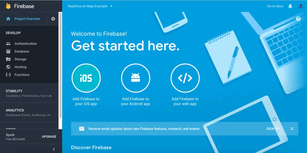 Firebase Console - Coding Infinite