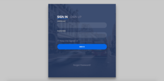 login signup page with php mysql api