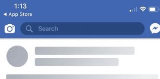 Facebook Shimmer