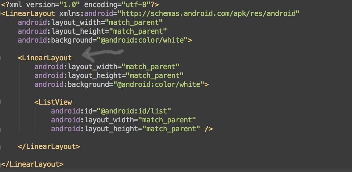 Android lint highlight
