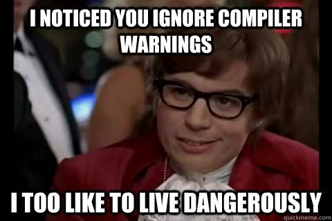 Compiler warnings meme