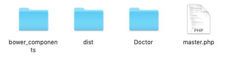 web app folders