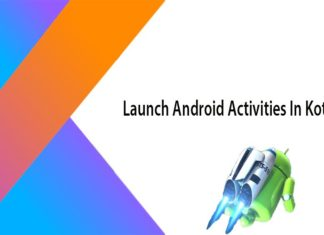 android activites launch in kotlin