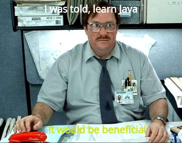 Java is beneficial meme