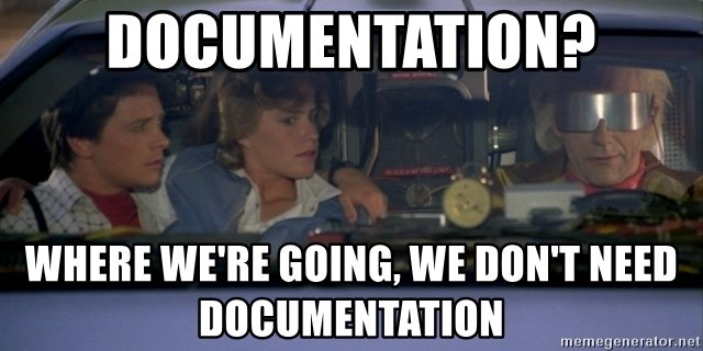 We dont need to write documentation