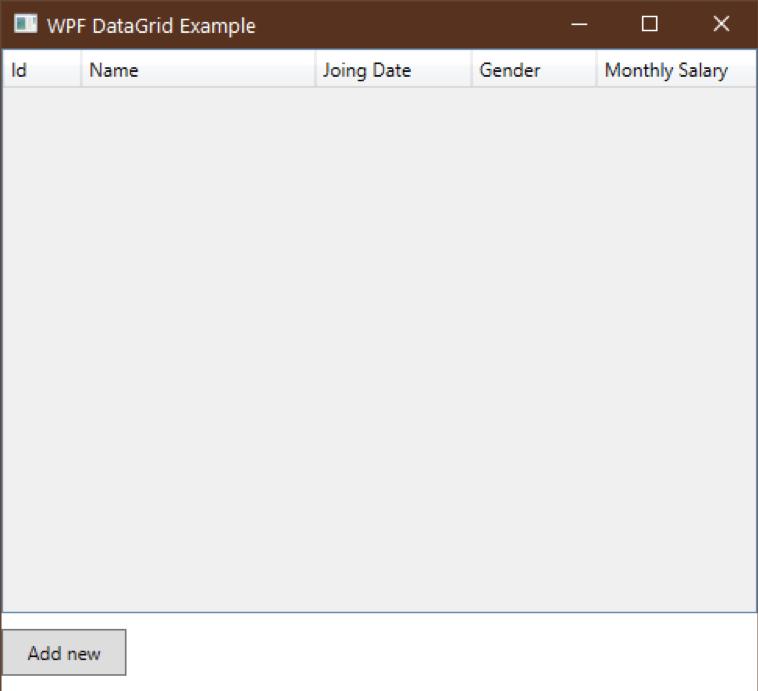 datagrid display data