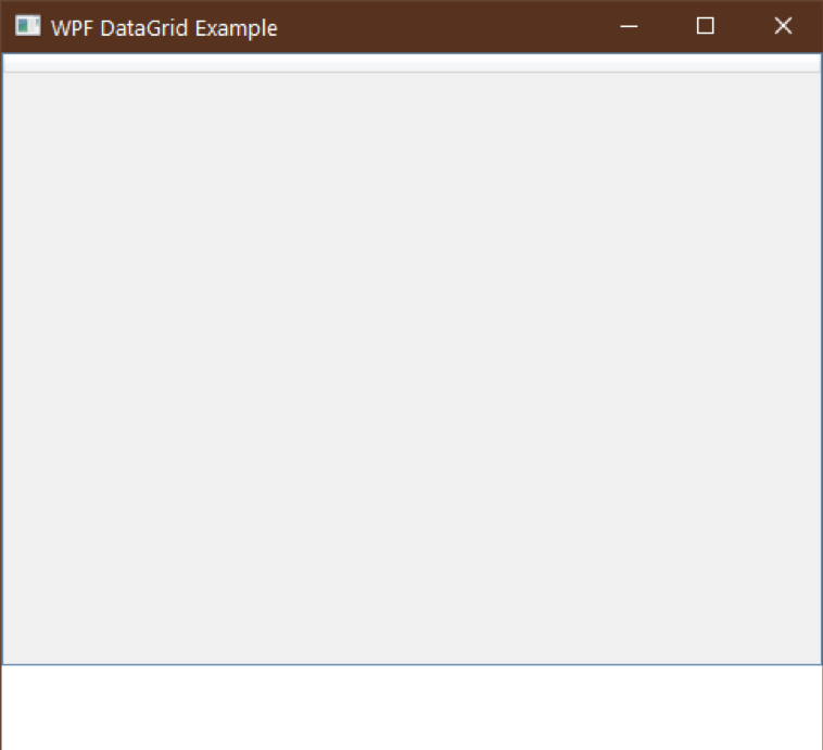 wpf datagrid