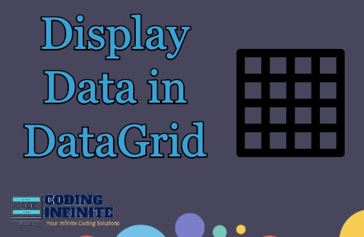 Display Data in DataGrid