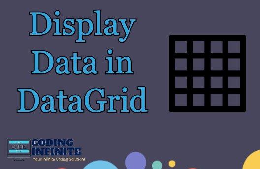 Display Data in DataGrid