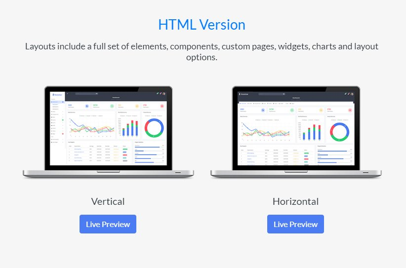 Booster-HTML-versions