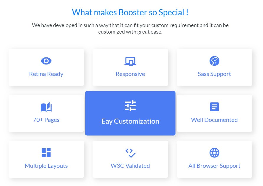Booster-features