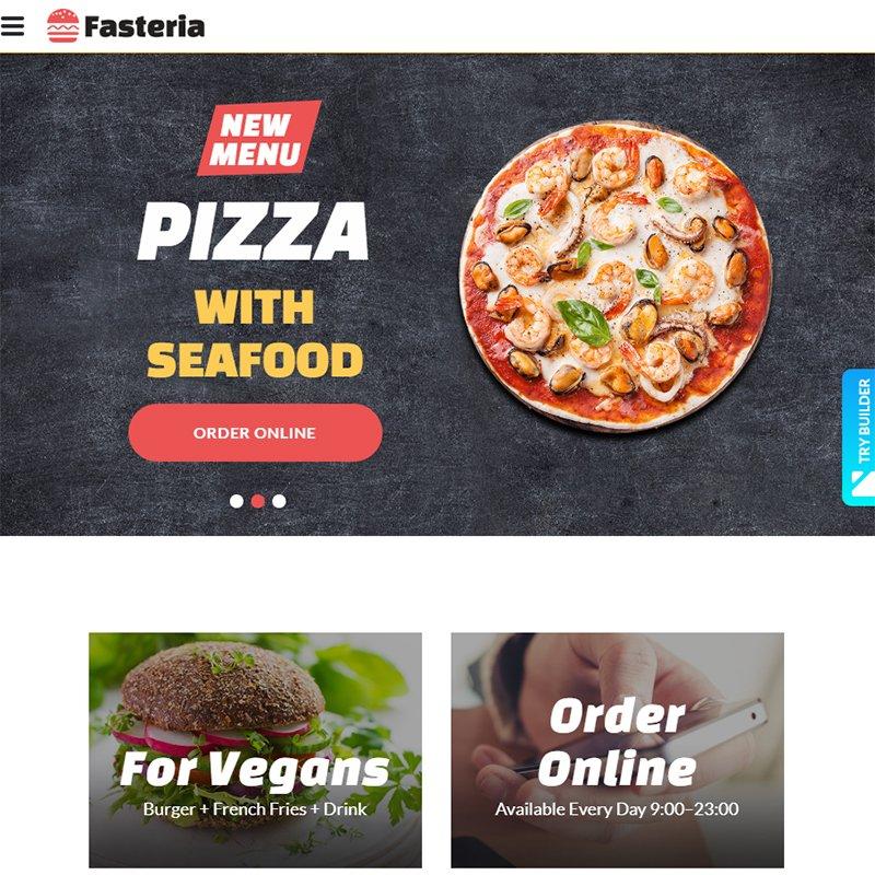 FASTERIA - FAST FOOD WEBSITE TEMPLATES