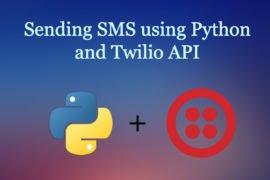 python sending sms twilio