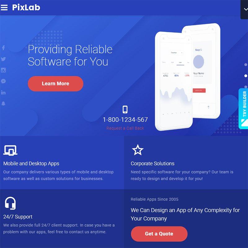 PIXLAB - SOFTWARE COMPANY WEBSITE TEMPLATES