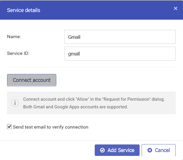 Setting up Gmail with javascript