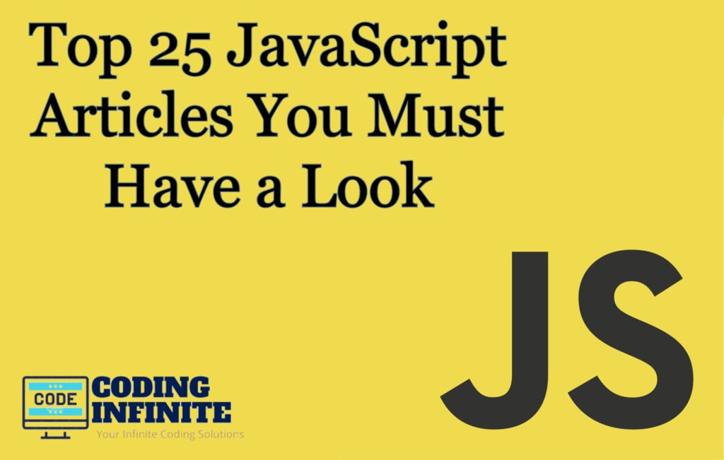 TOP 25 JAVASCRIPT ARTICLES