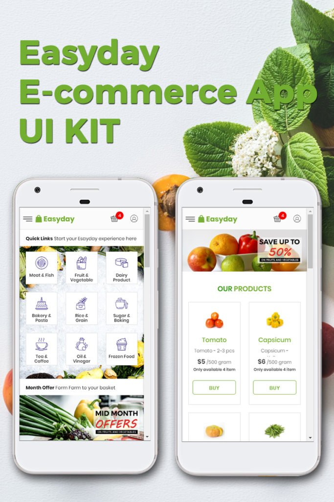 EASYDAY E-COMMERCE APP KIT APP TEMPLATE