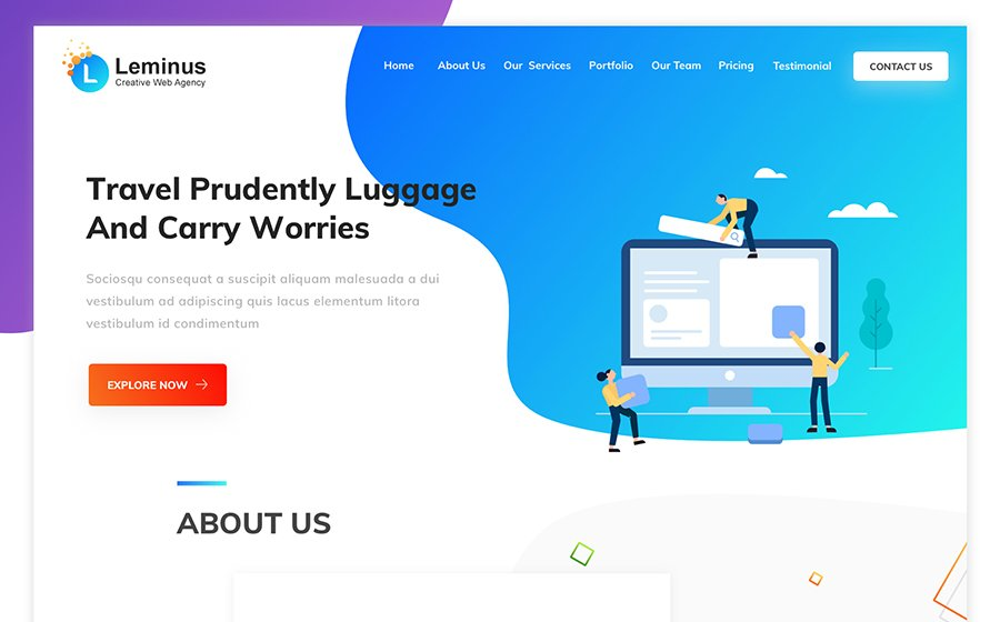 Leminus Web Agency Sketch Template