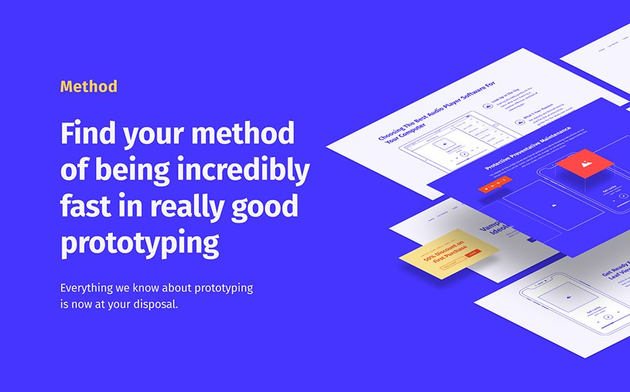 Method Wireframe Kit 2 Sketch Template