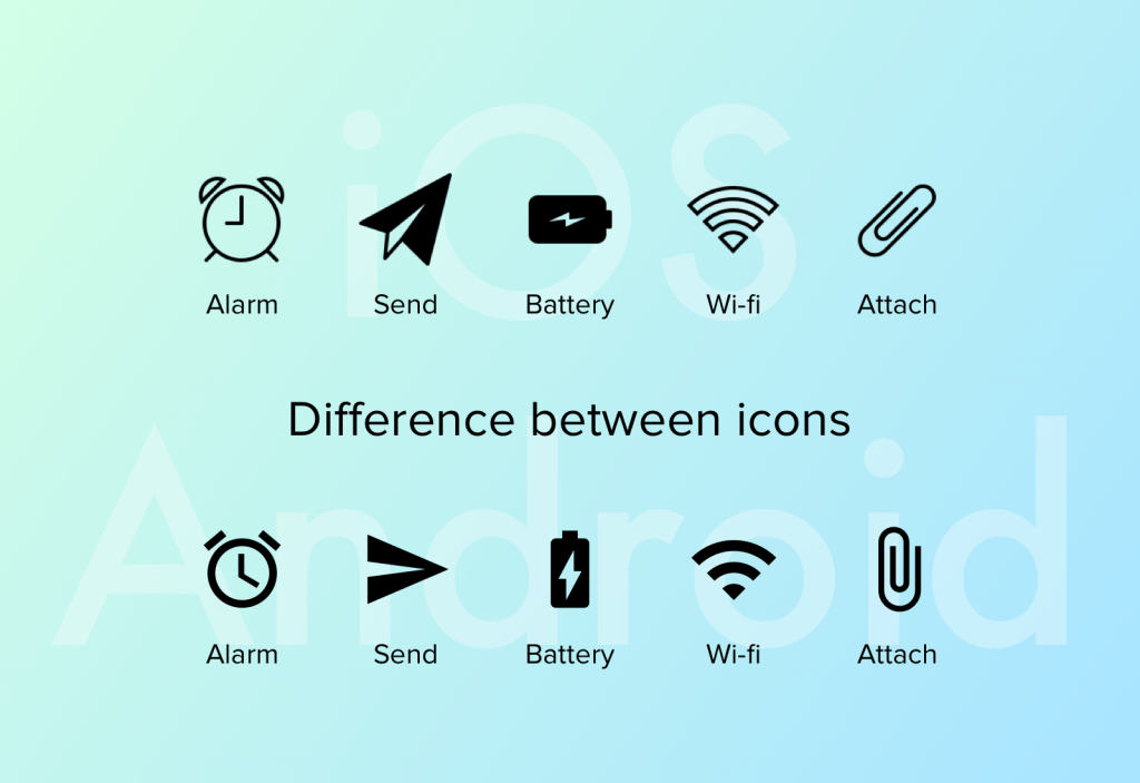 Android vs iOS icons